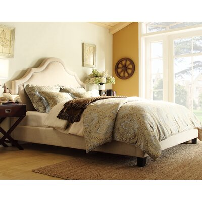 Humphries Upholstered Panel Bed Size: King, Color: Beige