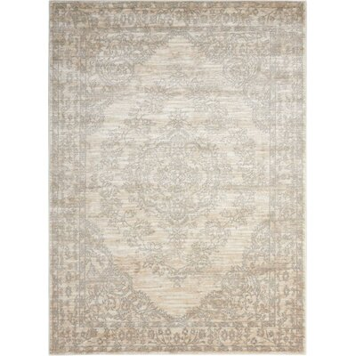 Angelique Bone Area Rug Rug Size: Rectangle 53 x 73