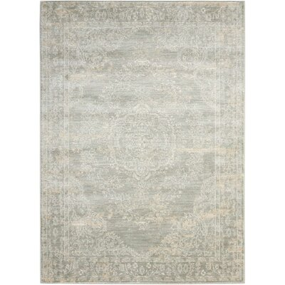 Angelique Grey Area Rug Rug Size: 5'3