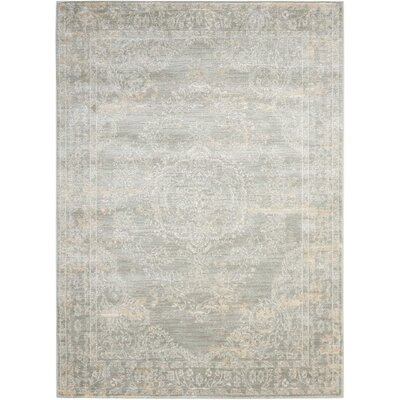 Angelique Grey Area Rug Rug Size: 3'11