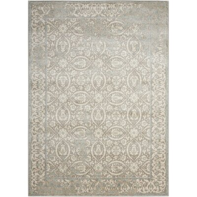 Angelique Gray and Ivory Area Rug Rug Size: Rectangle 53 x 73