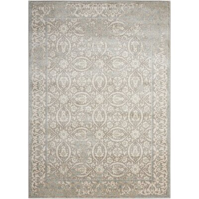 Angelique Gray Area Rug Rug Size: 7'10