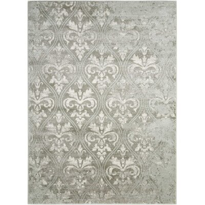 Angelique Gray Area Rug Rug Size: 53 x 73