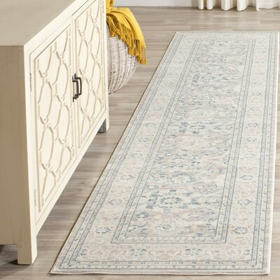 Bertille Gray/Blue Area Rug Rug Size: Runner 22 x 8