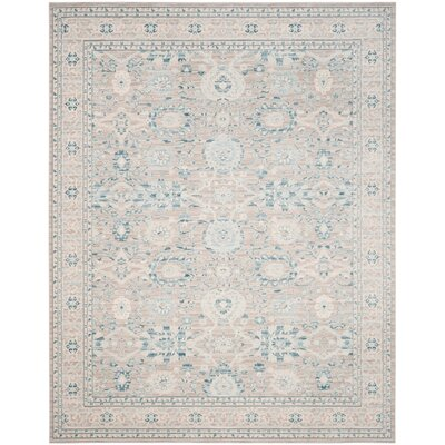 Bertille Gray / Blue Area Rug Rug Size: 4 x 6