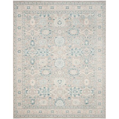 Bertille Gray / Blue Area Rug Rug Size: 51 x 76