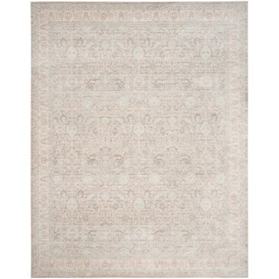 Bertille Ivory Area Rug Rug Size: 51 x 76