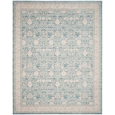 Bertille Blue/Gray Area Rug Rug Size: Rectangle 4 x 6