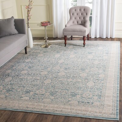 Bertille Blue/Gray Area Rug Rug Size: Rectangle 9 x 12