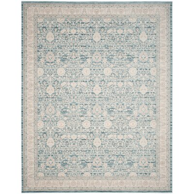 Bertille Blue / Gray Area Rug Rug Size: 51 x 76
