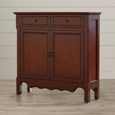 Bayonne 2 Drawer 2 Door Cabinet Finish: Warm Brown LARK1209 25289893