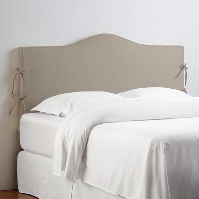 Angeline Slipcover Upholstered Panel Headboard Upholstery: Klein Ivory, Size: California King