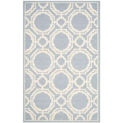 Bron Hand-Tufted Blue/Ivory Area Rug Rug Size: 8 x 10