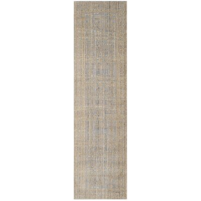 Menton Gray / Gold Area Rug Rug Size: Runner 23 x 6