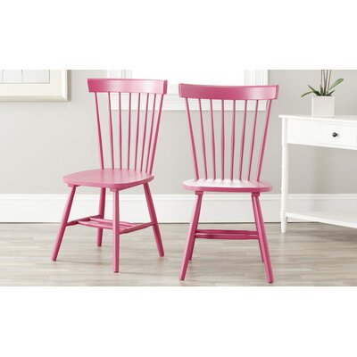 Saint-Pierre Solid Wood Dining Chair Finish: Raspberry