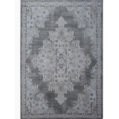 Bastien Gray Area Rug Rug Size: 53 x 72