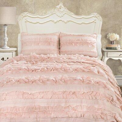 Julien Quilt Set Size: Twin, Color: Pink Blush