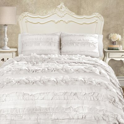 Clarksville Quilt Set Size: King, Color: White