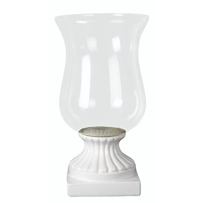Ceramic Hurricane Candle Holder Size: Large