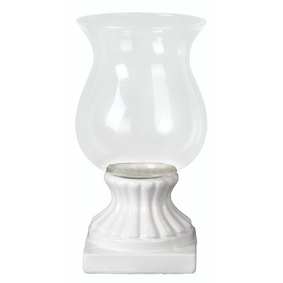 Ceramic Hurricane Candle Holder