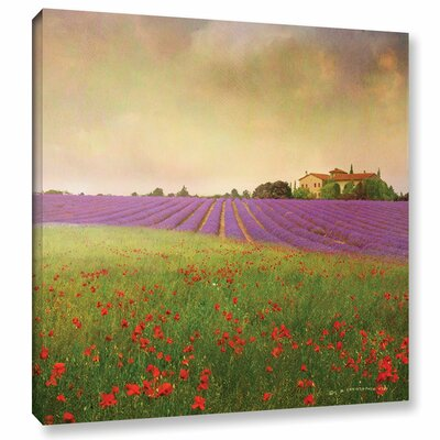 Lavender Fields II Painting Print on Wrapped Canvas