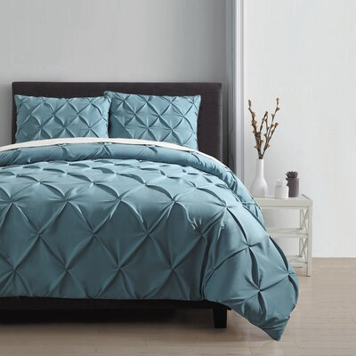 Mignault 3 Piece Duvet Cover Set Color: Navy, Size: King