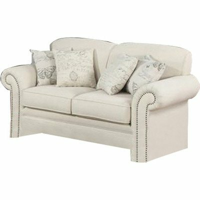 Lark Manor LARK3381 31265219 Axelle Loveseat in White