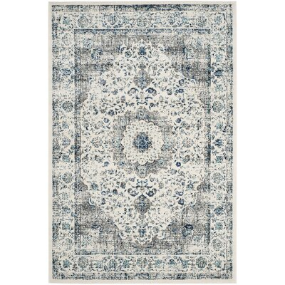 Gray/Ivory Area Rug Rug Size: 22 x 7