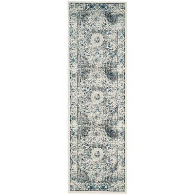 Aleyna Gray/Ivory Area Rug Rug Size: Runner 22 x 21