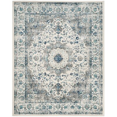 Gray/Ivory Area Rug Rug Size: 10' x 14'