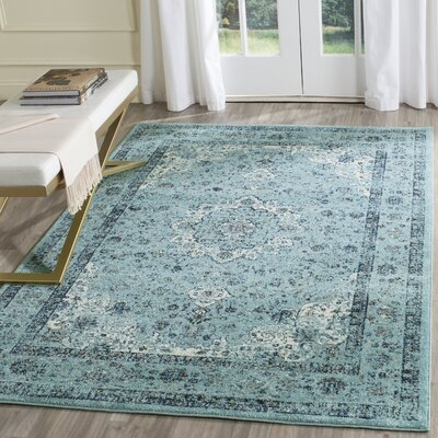 Light Blue Area Rug Rug Size: Square 67