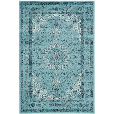 Alia Light Blue Area Rug Rug Size: Square 51
