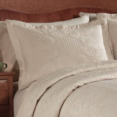 Ambroise Pillow Case Color: Ivory, Size: King