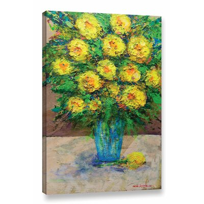 Golden Gala Painting Print on Wrapped Canvas Size: 18