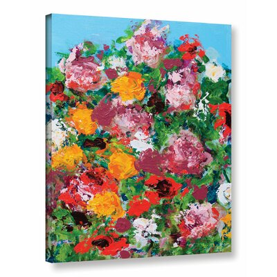 Jardin Botanique Garden Painting Print on Wrapped Canvas Size: 18