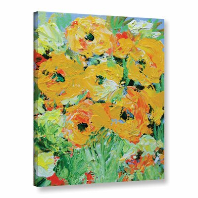 Monsoon Garden Framed Painting Print on Wrapped Canvas