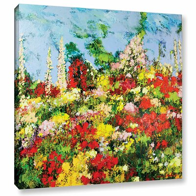 Overgrown Painting Print on Wrapped Canvas