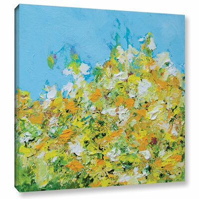 Rousham Park Garden Painting Print on Wrapped Canvas