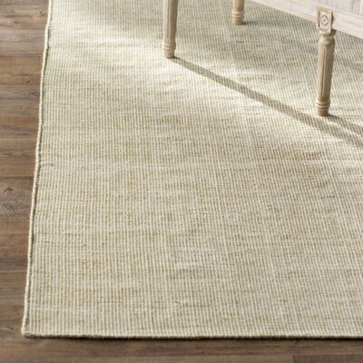 Ledoux Hand Woven Beige And Green Area Rug Rug Size: 8 x 10