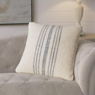 Linen Throw Pillow Color: Annapolis Blue, Size: 18