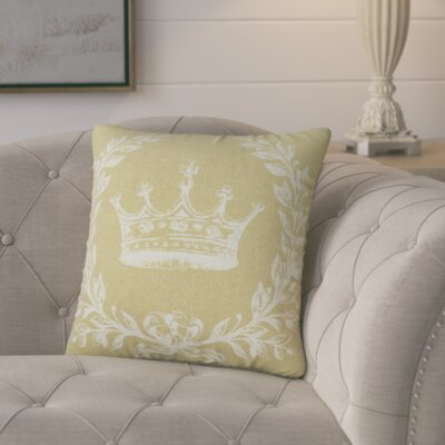 Clematite Coral Crown Linen Throw Pillow Color: Tan