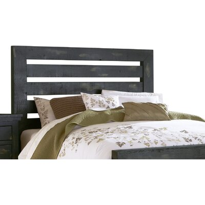 Castagnier Slat Headboard Size: King, Color: Distressed Black