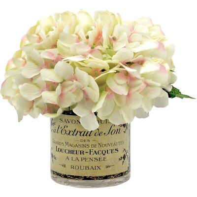 Faux White & Pink Hydrangea