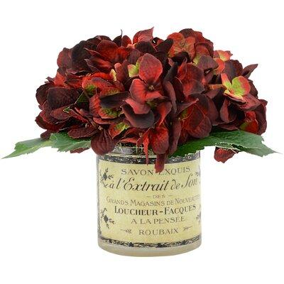 Deep Burgundy Hydrangea Cluster