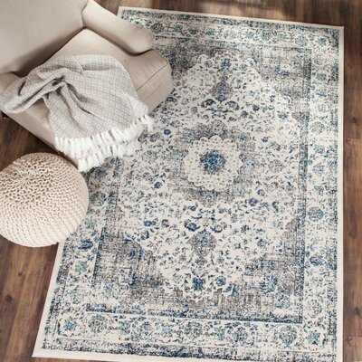 Elson Gray/Gold Area Rug Rug Size: Rectangle 10 x 14