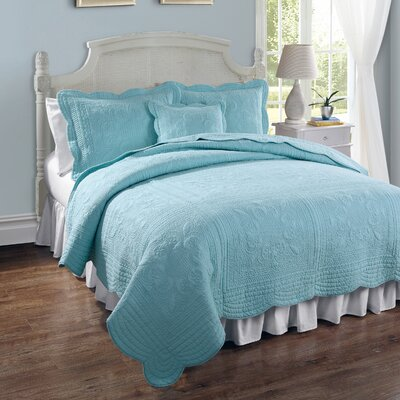 Ambroise Quilt Size: Full/Queen, Color: Canal Blue