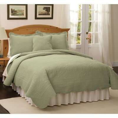 Ambroise Quilt Color: Tea Green, Size: Twin