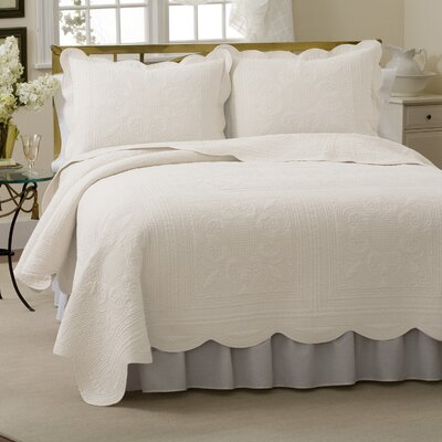 Gilles Quilt Size: Twin, Color: White