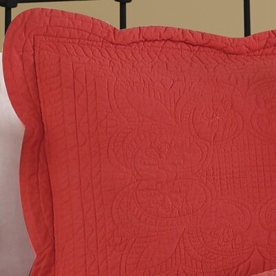 Ambroise Sham Color: Coral