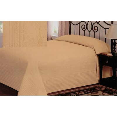 Gilles Traditional Bedspread Size: Twin, Color: Gold